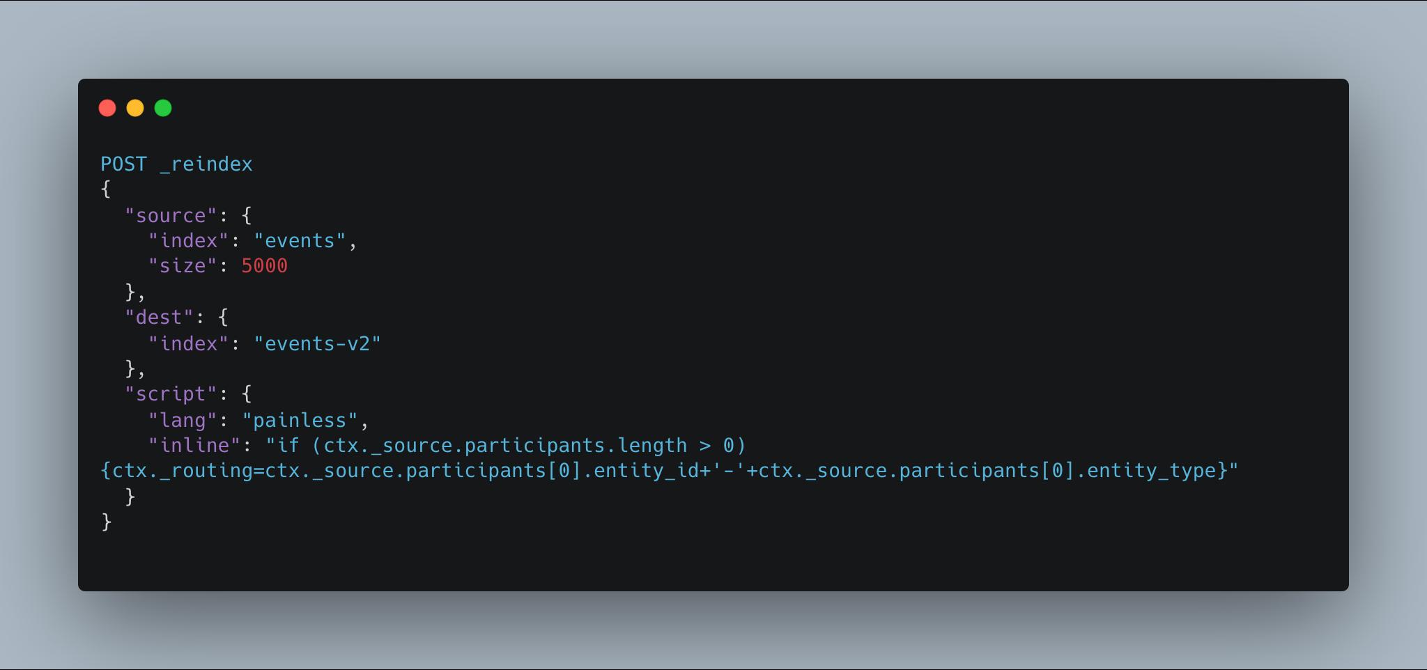 Elasticsearch reindex API with custom _routing set